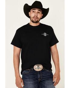 Cowboy Up Men's Black Two Words America Graphic T-Shirt , Black, hi-res