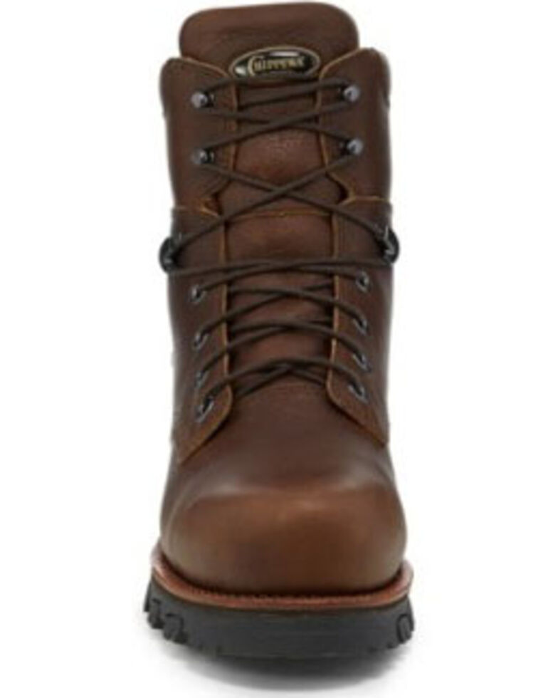 "Chippewa Men's Honcho 7"" Waterproof Work Boots - Composite Toe, Brown, hi-res"