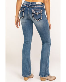 Grace in LA Women's Medium Embellished Bootcut Jeans, Blue, hi-res