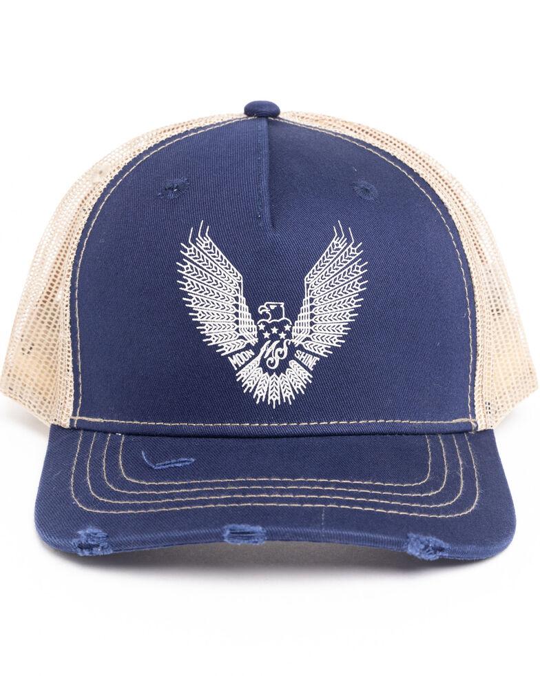 Moonshine Spirit Men's Eagle Embroidered Ball Cap , Blue, hi-res