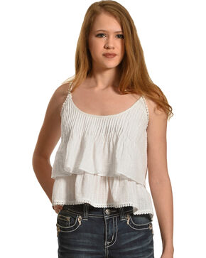 Sage the Label Women's White Barbados Tank , White, hi-res