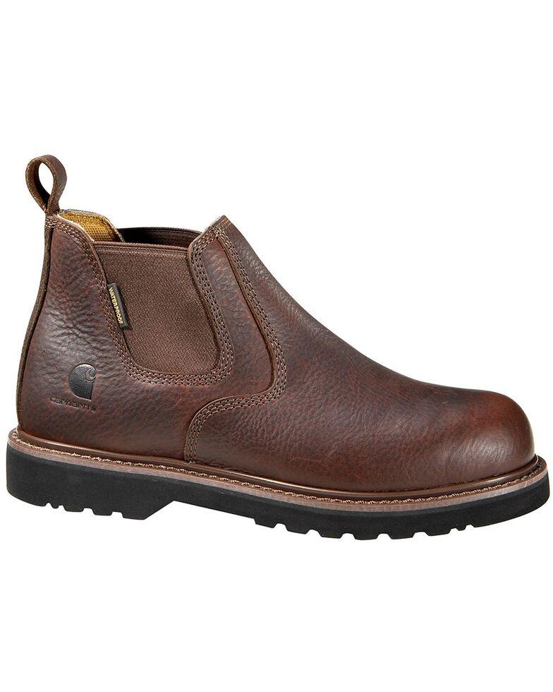 """Carhartt 4"""" Twin Gore Romeo Work Shoes, Dark Brown, hi-res"""