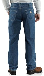 Carhartt Flame Resistant Relaxed Fit Brushed Lining Jeans - Big & Tall, Midstone, hi-res