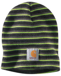Carhartt Men's Multi Acrylic Knit Work Beanie , Charcoal, hi-res