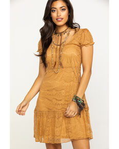 Honey Creek by Scully Women's Butterscotch Lace Dress, Honey, hi-res