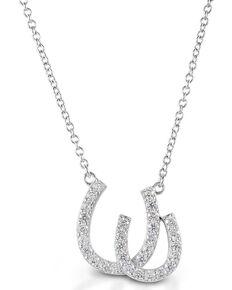 Kelly Herd Women's Double Horseshoe Necklace, Silver, hi-res