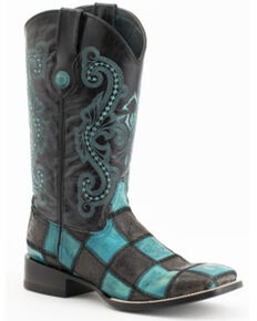 Ferrini Men's Fuego Western Boots - Wide Square Toe, Black, hi-res