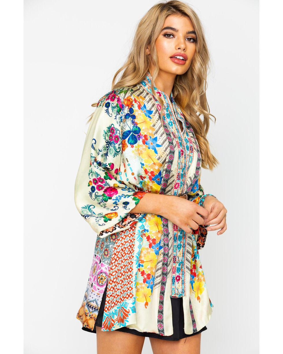 Johnny Was Women's Bonian Kimono, Ivory, hi-res
