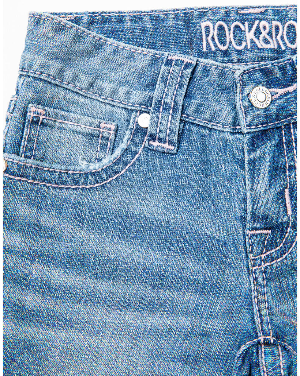 Rock & Roll Cowgirl Girls' Multicolor Stretch Jeans, Light Blue, hi-res