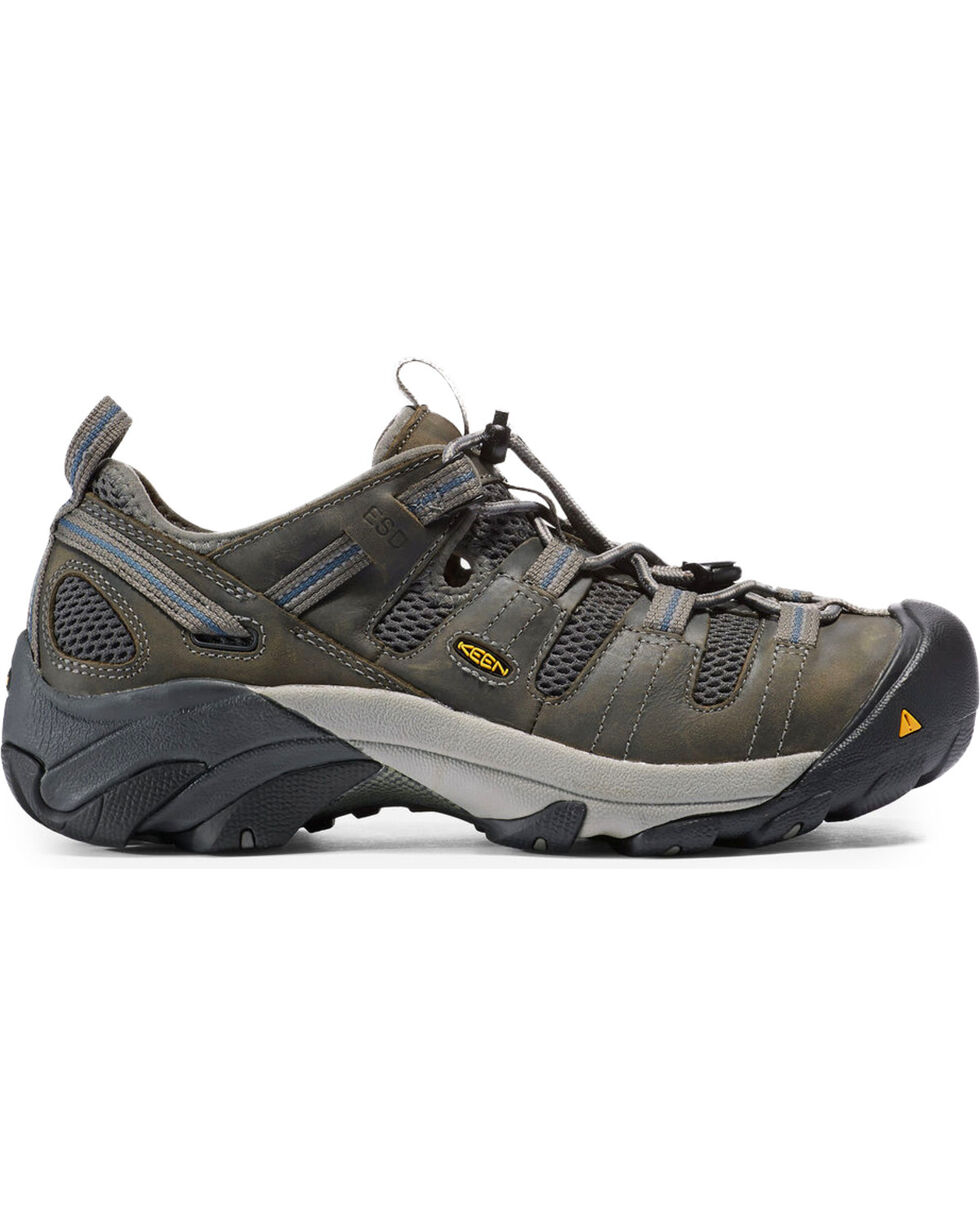 Keen Men's Atlanta Cool ESD Work Shoes - Steel Toe, Grey, hi-res