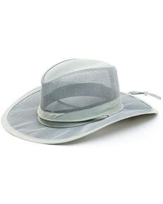 Hawx Men's Grey Mesh Vented Work Sun Hat , Grey, hi-res