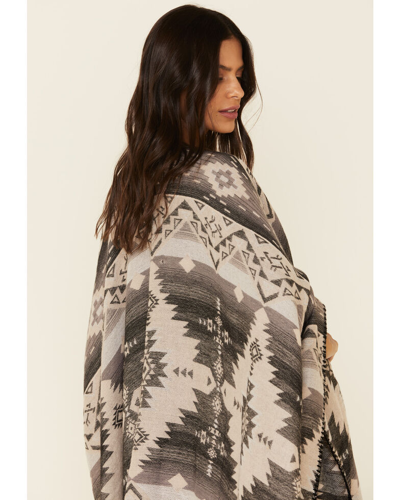 Shyanne Women's Autumn tan Aztec Shawl, Tan, hi-res