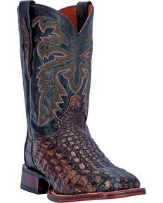Dan Post Copper Everglades Caiman Cowboy Boots - Square Toe, Copper, hi-res