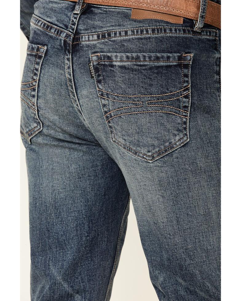 Rock & Roll Denim Men's Hooey Double Barrel Medium Vintage Stretch Relaxed Stackable Bootcut Jeans , Blue, hi-res