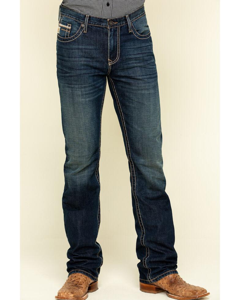 Cinch Men's Ian Rigid Dark Slim Bootcut Jeans , Indigo, hi-res