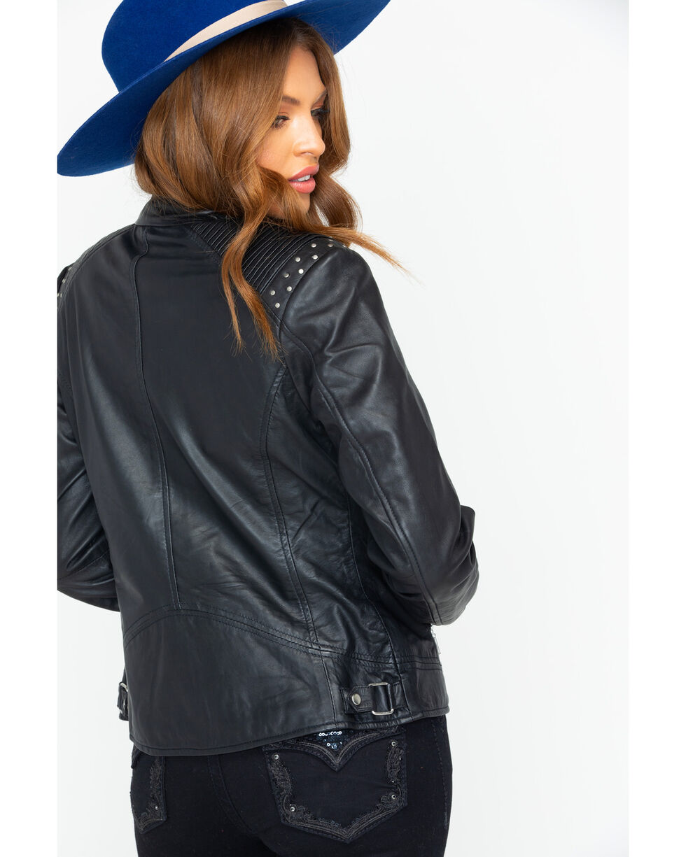 Scully Women's Classic Casual Leather Jacket , Black, hi-res