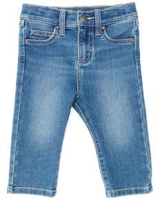 Wrangler Infant Boys' Medium Wash Stitched Pocket Bootcut Jeans , Blue, hi-res