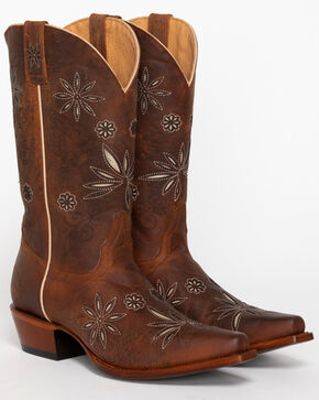 Shyanne Women's Daisy Mae Western Boots - Snip Toe, Distressed Brown, hi-res