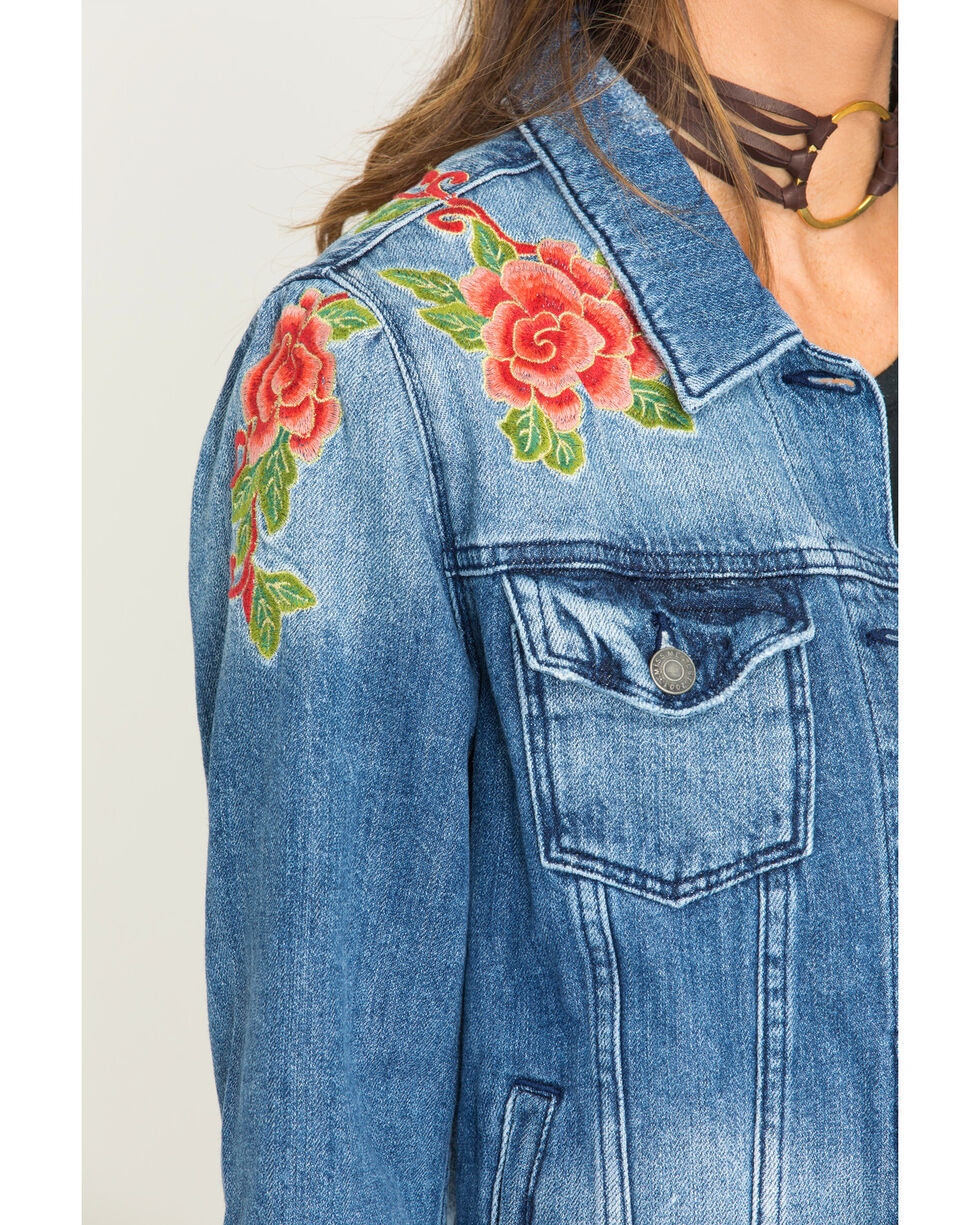 Miss Me Women's Indigo Sweet Essence Denim Jacket , Indigo, hi-res