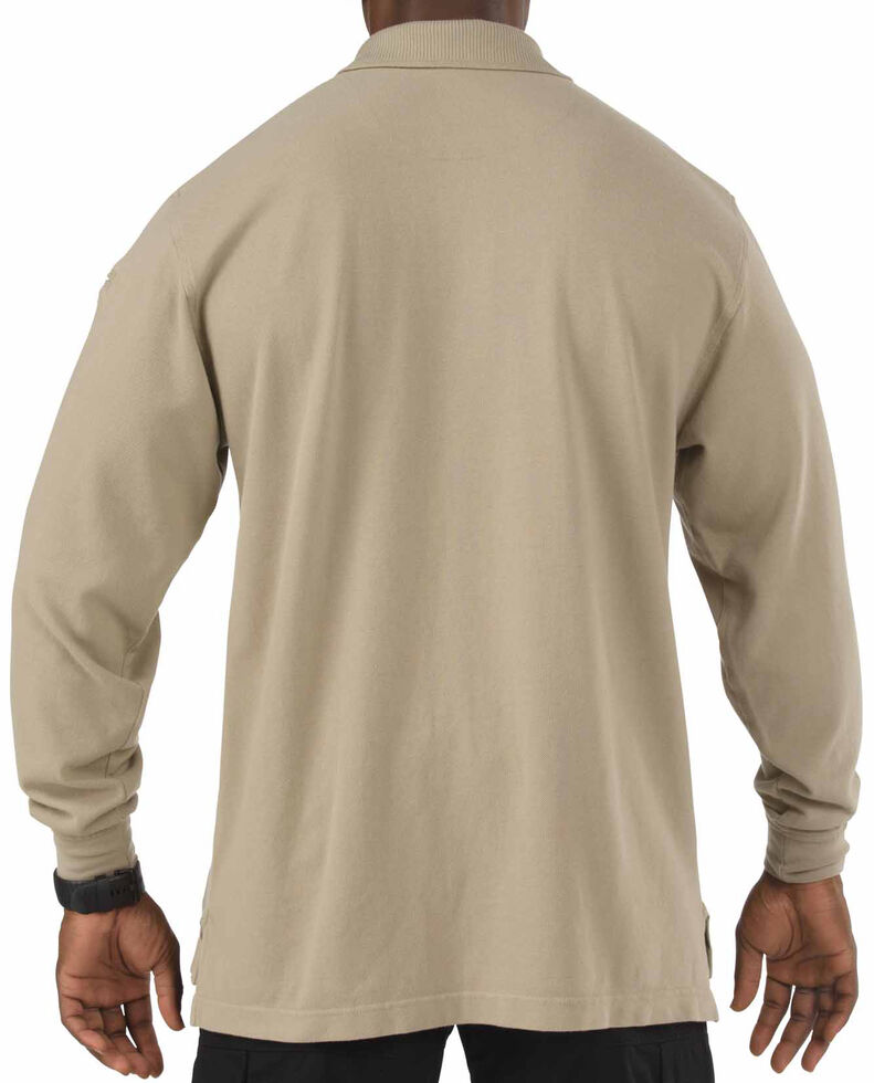 5.11 Tactical Professional Long Sleeve Polo Shirt - 3XL, Tan, hi-res