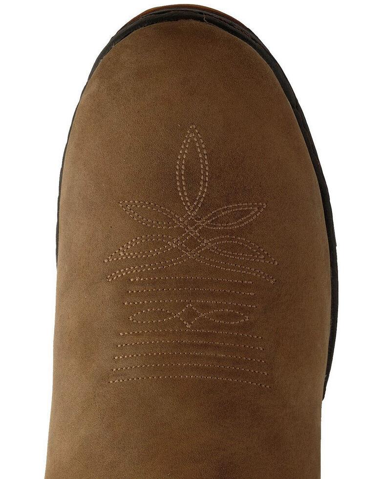 Justin Men's George Strait Unwound Waterproof Cowboy Work Boots - Round Toe, Tan, hi-res