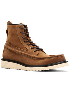 Frye Men's Montana Wedge Work Boot - Soft Toe, Tan, hi-res