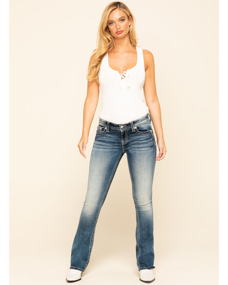 Miss Me Women's Medium Blowout Chloe Bootcut Jeans, Blue, hi-res