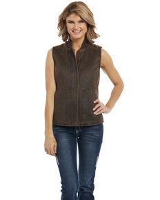 Cripple Creek Women's Brown Concealed Carry Vest , Brown, hi-res