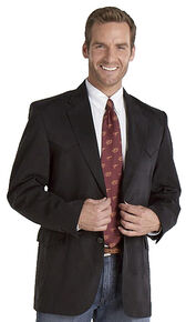 Circle S Men's Microsuede Sport Coat - Tall, Black, hi-res