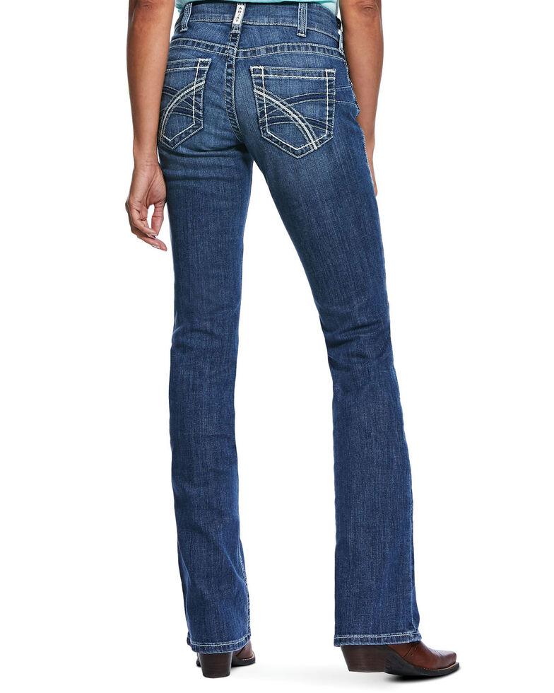 Ariat Women's R.E.A.L Hannah Bootcut Jeans - Plus, Blue, hi-res