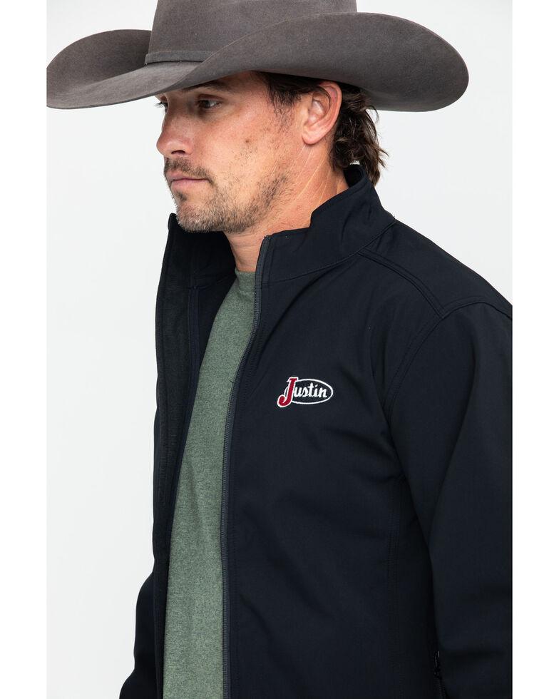 Justin Men's Black Laminated Softshell Bonded Jacket , Black, hi-res