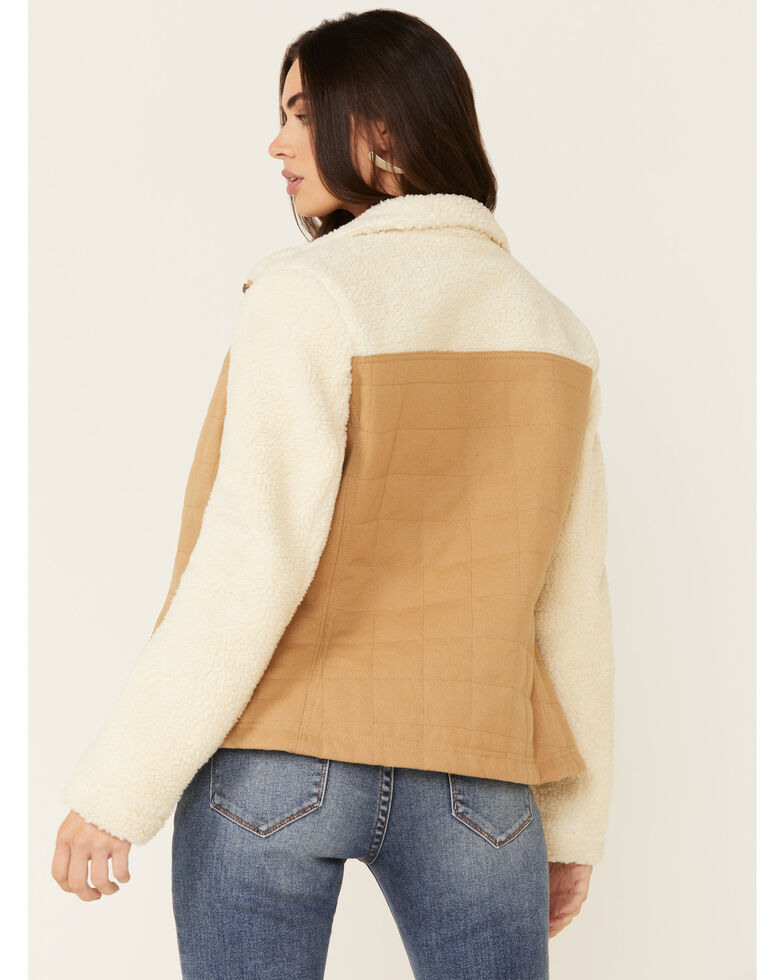 Pendleton Women's Salida Canvas Sherpa-Lined Jacket , Ivory, hi-res