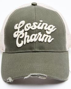 Idyllwind Women's Losing Charm Mesh Back Ball Cap , Olive, hi-res