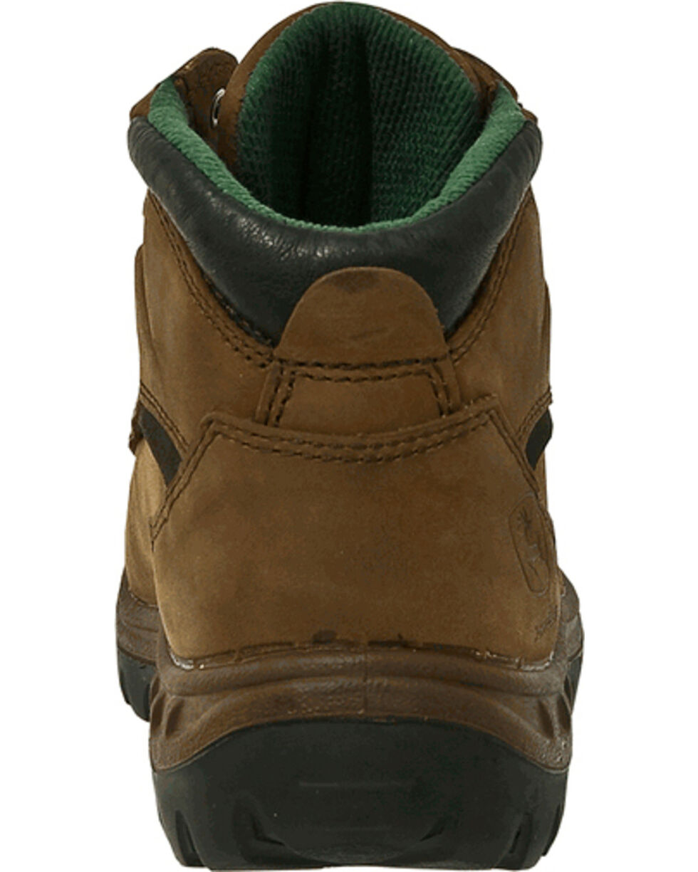 John Deere Men's Waterproof Hiker Work Boots - Steel Toe, Tan, hi-res