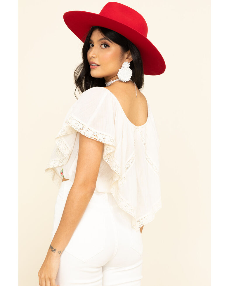 White Crow Women's Off Shoulder Lucia Top, Ivory, hi-res