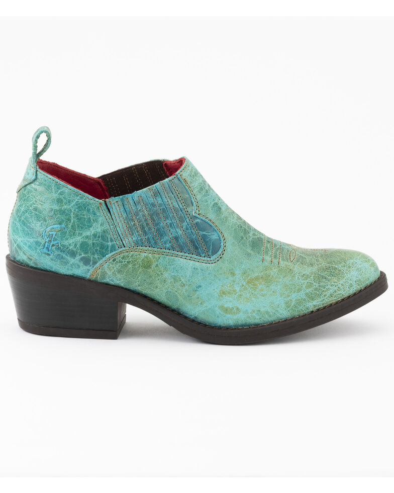 Ferrini Women's Darlin Fashion Booties - Round Toe, Turquoise, hi-res