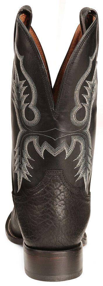 Tony Lama Black Bullhide Stockman Boots - Round Toe, Black, hi-res