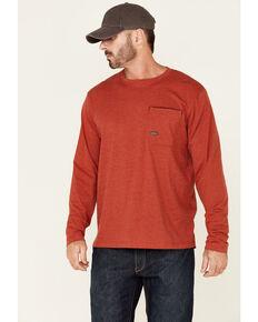 Ariat Men's Heather Red Rebar Workman Alloy Flag Graphic Long Sleeve Work Pocket T-Shirt , Red, hi-res
