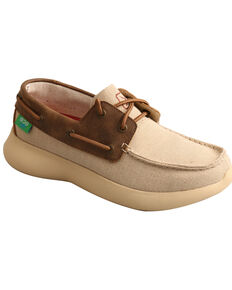 Twisted X Women's Reva 12 Driving Shoes - Moc Toe, Beige/khaki, hi-res