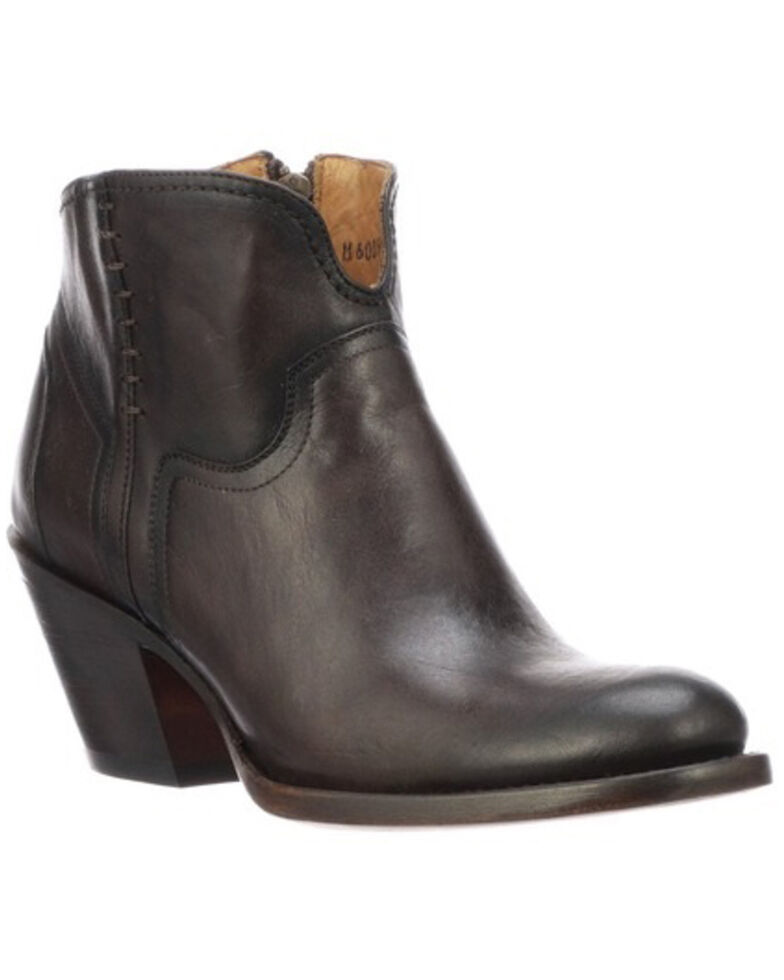 Lucchese Women's Ericka Fashion Booties - Round Toe, Chocolate, hi-res
