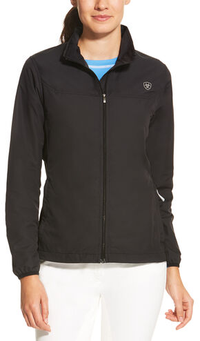 Ariat Women's Black Ideal Windbreaker Jacket, Black, hi-res