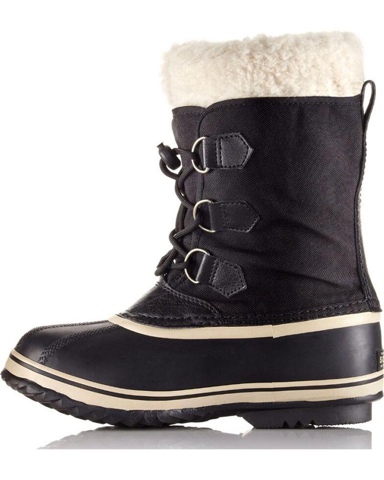 Sorel Boys' Yoot Pac Nylon Boots , Black, hi-res