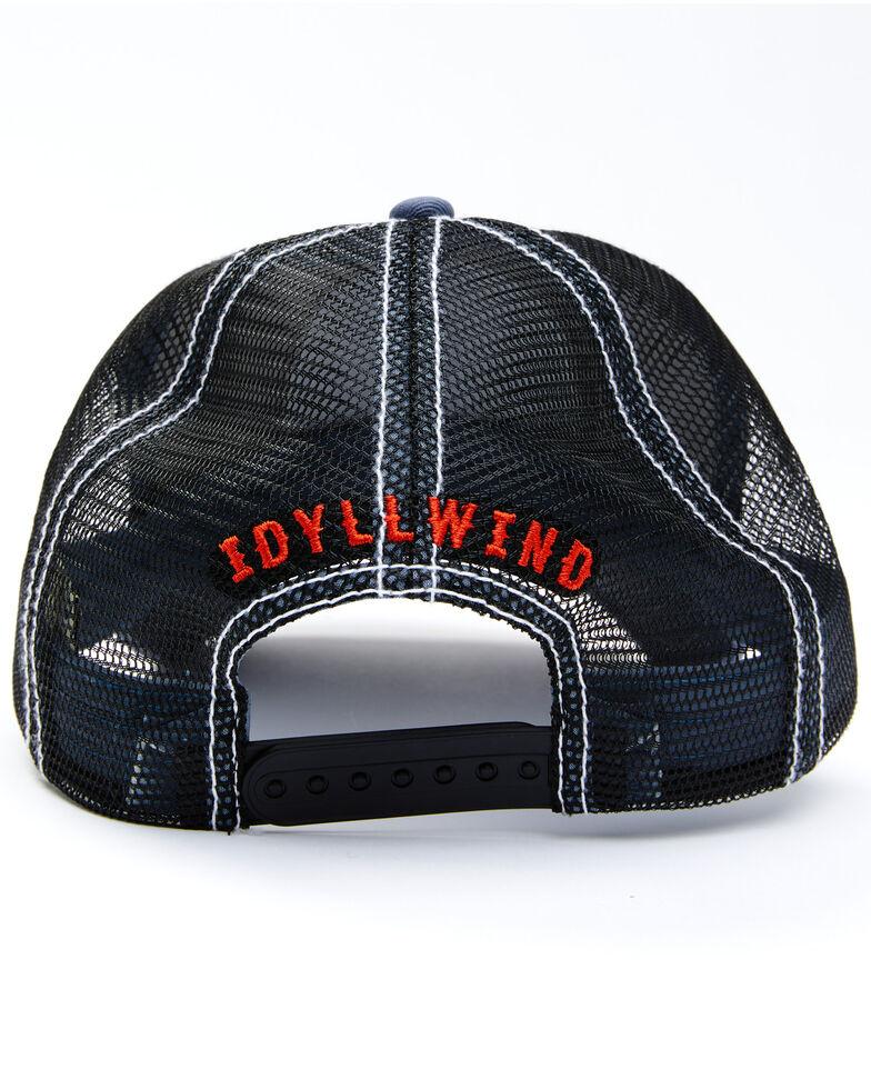 Idyllwind Women's USA Eagle Patch Mesh-Back Ball Cap, Blue, hi-res