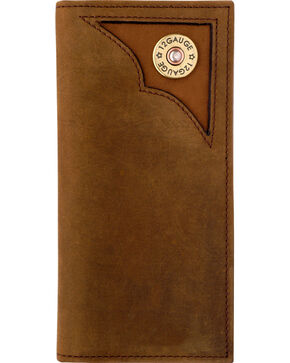 3D Men's Brown Leather Outdoor Rodeo Wallet, Brown, hi-res