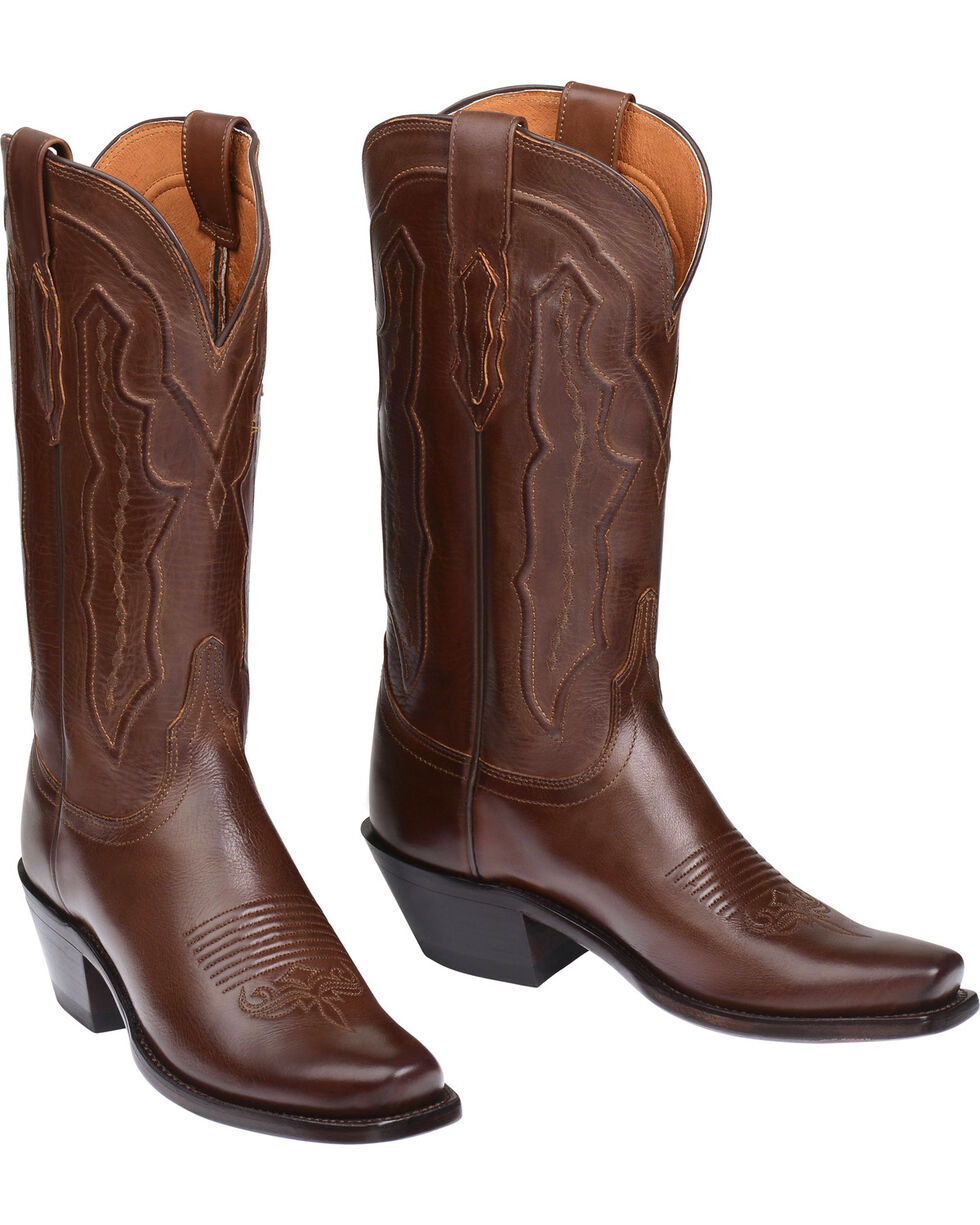 Lucchese Handmade Grace Ranch Hand Western Boots - Square Toe  , Tan, hi-res