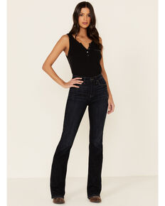Idyllwind Women's Super Highrise Roper Outlaw Bootcut Jeans, Dark Blue, hi-res
