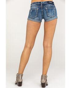 21b2e0ad28 Grace in LA Women's Dark Clean Rolled Hem Shorts