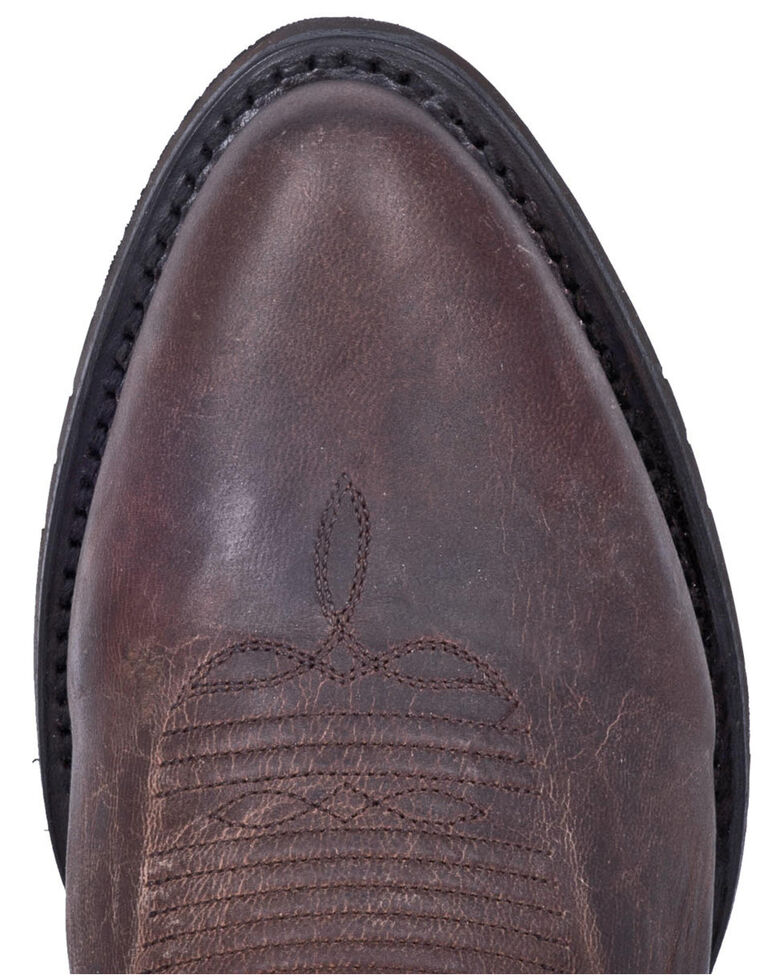 Dan Post Men's Carr Western Boots - Round Toe, Chocolate, hi-res