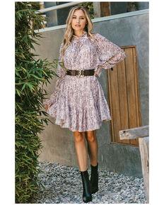 Saints & Hearts Women's Pink Snake Print Dress, Pink, hi-res