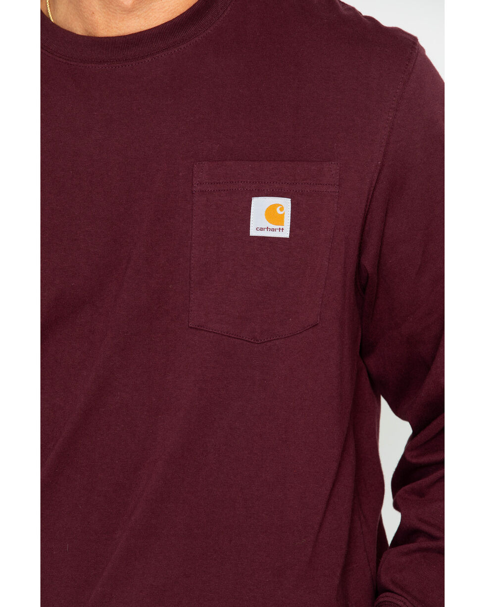 Carhartt Men's Exclusive Graphic Long Sleeve Tee, Burgundy, hi-res